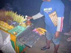 焼きトウモロコシ屋台