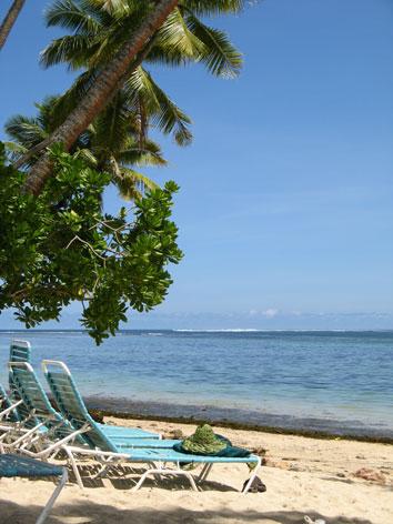 フィジーの浜辺