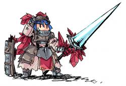 赤羽根飾りの騎士