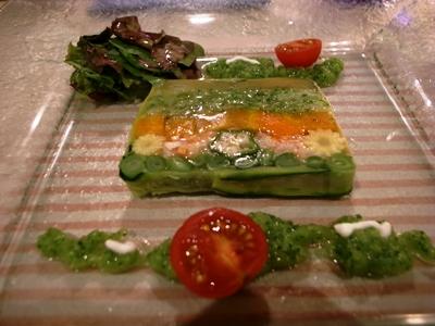オマール海老と野菜のテリーヌ