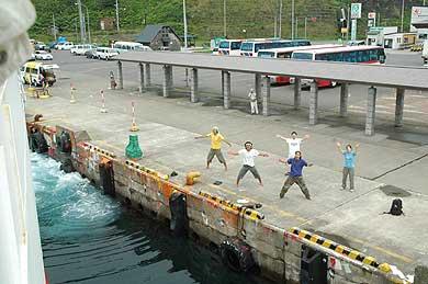 礼文島の香深港