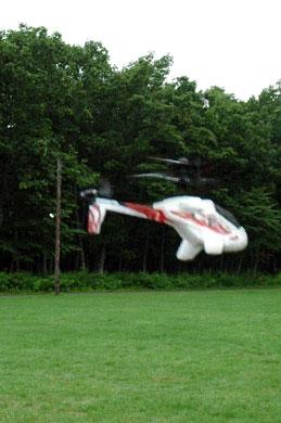 ヘリコプターを飛ばす