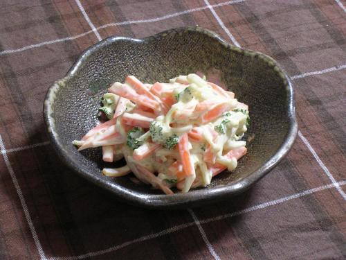 えのきとにんじんのカレー風味サラダ