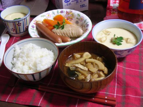 久しぶりの家族の夕食
