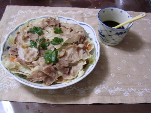 豚肉と野菜の蒸し煮