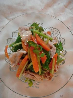 豚肉と香味野菜のサラダ