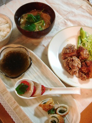 鶏からの夕食