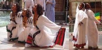 エチオピア民族舞踊団日本公演のフライヤーより
