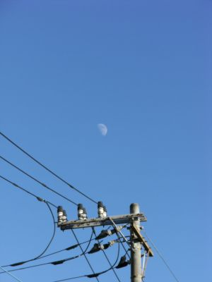 Moon on the afternoon