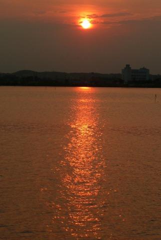北浦の夕景