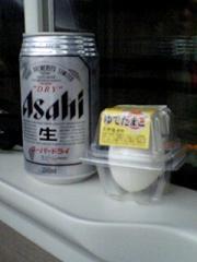 仙台朝の新幹線ビール