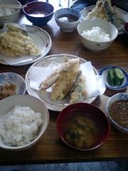 4あなご天ぷら定食引き