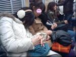 電車内は爆睡でした(^^;)