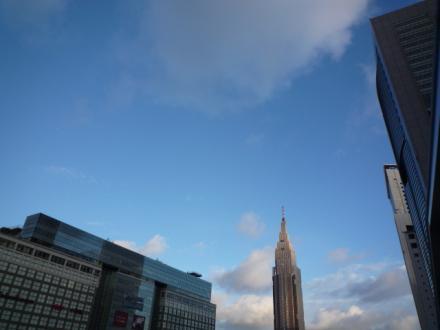 雨上がりの気持ち良い空@新宿