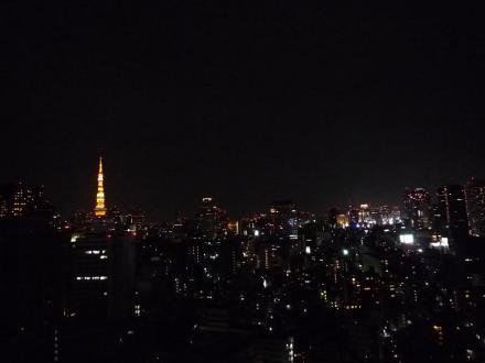 東京タワーを眼下にした夜景!?