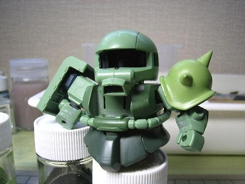 BB戦士 ザクⅡ なんちゃってザクグリーン