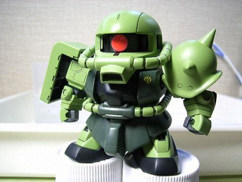 BB戦士 ザクⅡ 筆塗り完了1