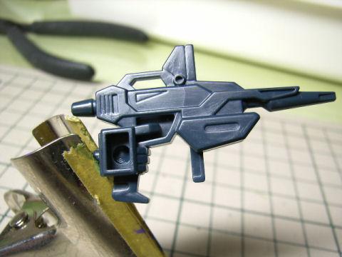 BB戦士 ガンダムMk-Ⅱ ライフル肉抜き2