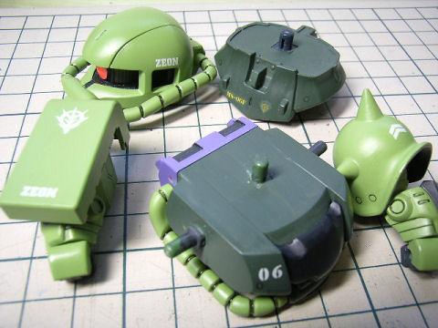 BB戦士 ザクⅡ デカール追加
