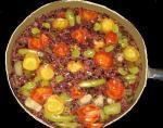 古代米と夏野菜のパエリア