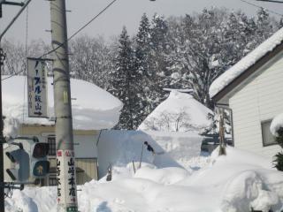 雪かきのおじさん