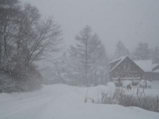 吹雪の斑尾