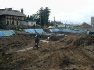 銅戈が発見された発掘現場