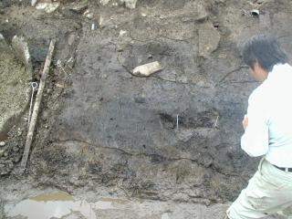 銅戈が埋められていた場所