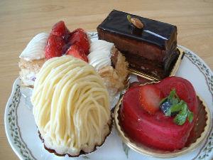 ラ・ベルデュールのケーキ
