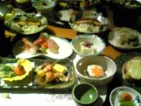 タップリの夕食