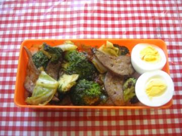 レバーと野菜のこってり弁当