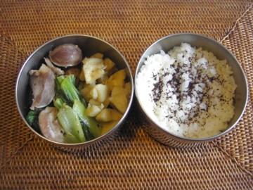 砂肝ナンプラー炒め弁当