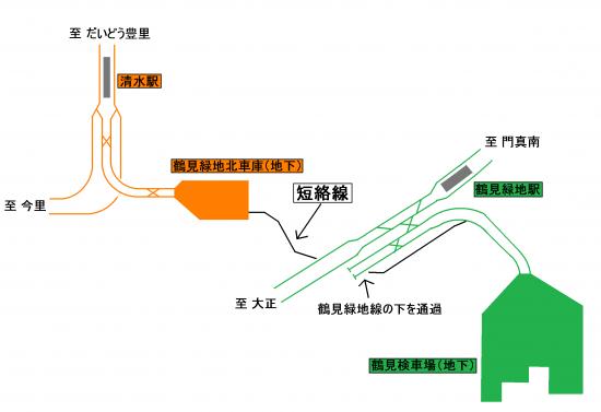 鶴見緑地線と今里筋線の短絡線