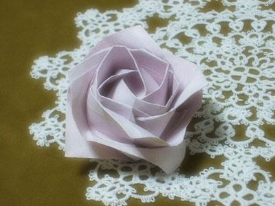 簡単 折り紙:折り紙川崎ローズ作り方-tatting.blog49.fc2.com