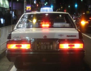 眩しいタクシー
