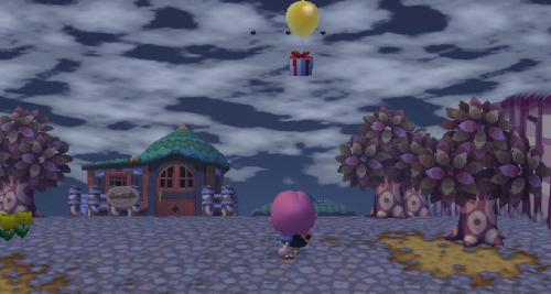 空とぶ風船