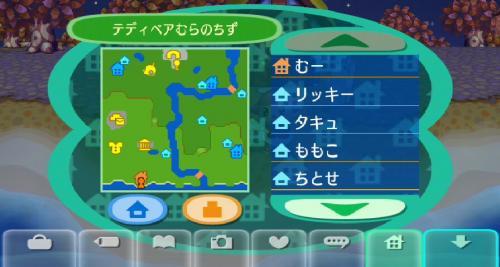 テディーベア村の地図