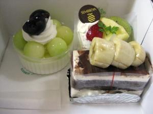 千疋屋のケーキ
