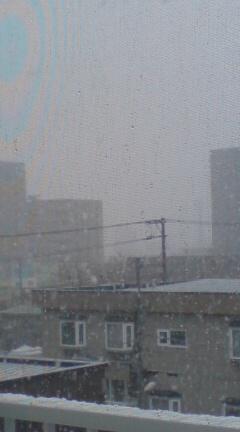 窓からの眺め。30日午後。鈍色の空