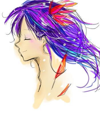 髪の毛ぼさーん
