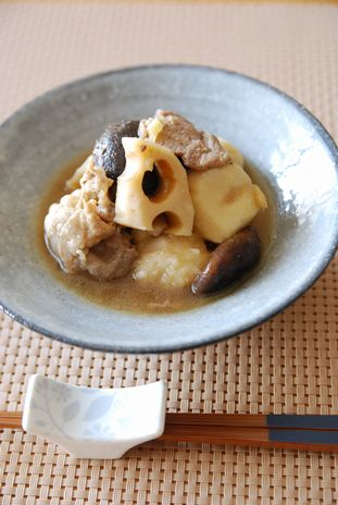 里芋と蓮根の中華煮込み1