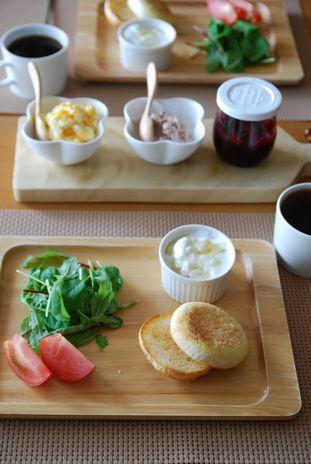 イングリッシュマフィン朝食1