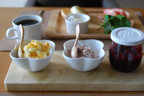 イングリッシュマフィン朝食3