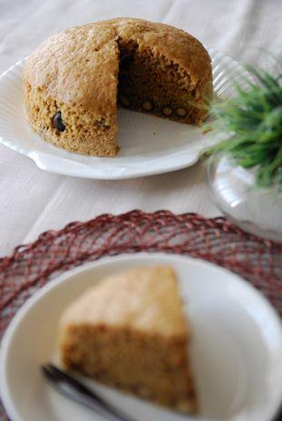 黒豆入り黒糖蒸しパン4