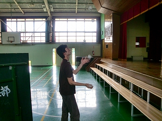 伊藤ボール練習風景