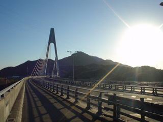 生口橋の上