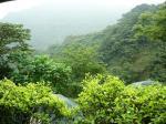 邀月茶芸館から見える山の風景