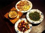 お薦め料理の数々。基本は四川と台湾料理!