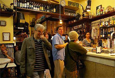 バルセロナのバルにて撮影した画像