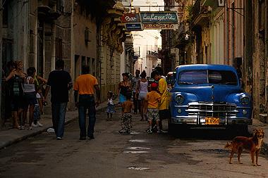 ハバナのとある小路を撮影